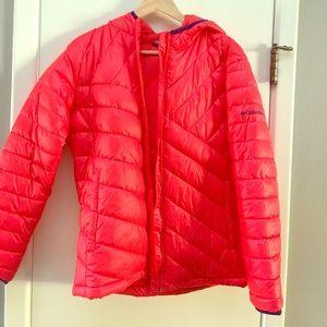 Columbia puffer jacket with hood