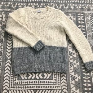 Madewell bulky color block sweater