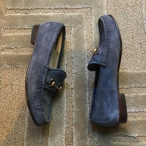GUCCI - suede horsebit loafers