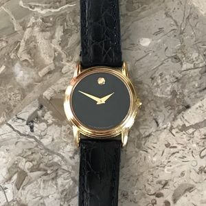 Movado Black/Gold Ladies Watch