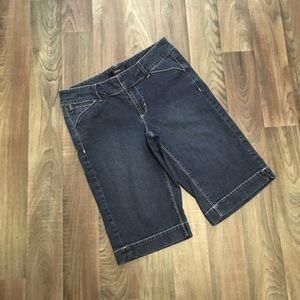 WHBM Noir Bermuda Jean Shorts