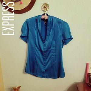 Express Silky Blue Top