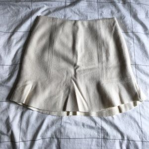 Madewell Ivory wool skirt - 2