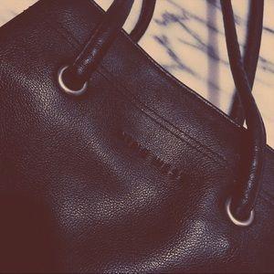 Nine West Black Leather Shoulder Bag