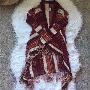 Lucky brand long boho sweater