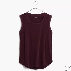 New Gorgeous Burgundy Madewell Muscle Tank