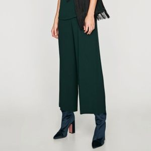 Zara army green High wasted trousers