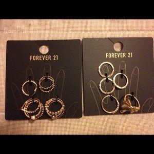Forever 21 Ring packs bundle