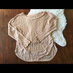 Deletta Pink Slub textured Oversize Knit Sweater