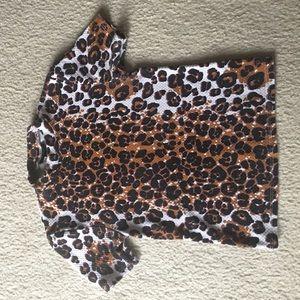 Tooshop cheetah turtleneck shirt