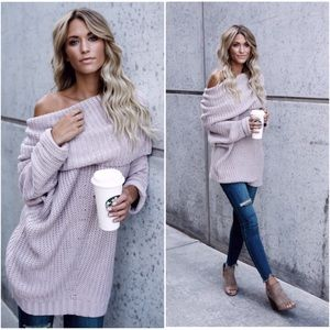 🆕RESTOCKED Carrie Fold Over Sweater Light Mauve
