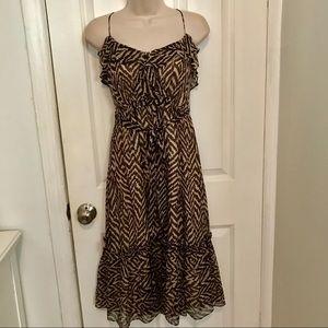 Milly zebra print silk dress size 2