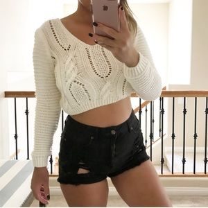 Sweaters - Georgia crop sweater