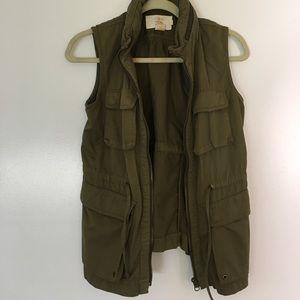 J. Crew Army Green Vest