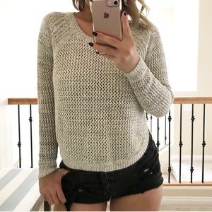 Sweaters - Lush grey knit sweater
