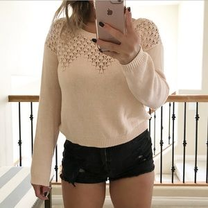 Sweaters - Fevrie light pink knit sweater
