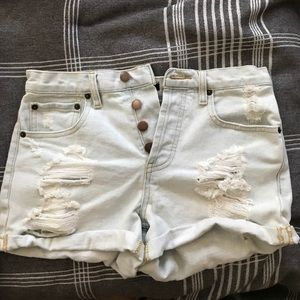 Forever 21 Light Wash, High Waist Shorts