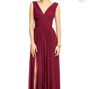 Burgundy chiffon gown