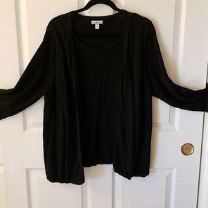 Plus size black sweater 2xl