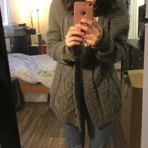 UO BDG Grey Sweater Cardigan! Super cute!