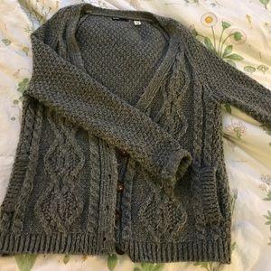 UO BDG Grey Sweater Cardigan! Super cute!