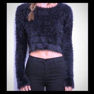 Brandy Melville Furry Crop Top