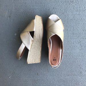 H&M Sheer Gold Flat Heel