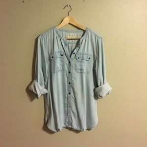 Soft chambray button up