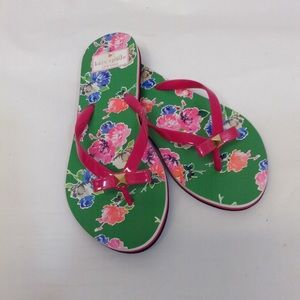 Kate Spade Floral Flip Flops size 6