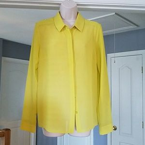 Yellow/lime green blouse
