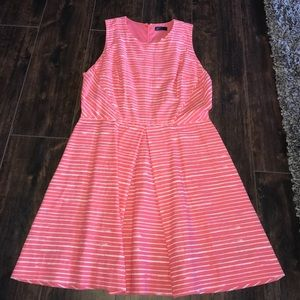 Gap pink and white striped dress
