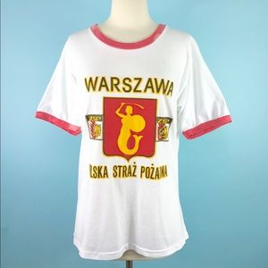 1980s Warsaw Poland ringer t shirt unisex fit