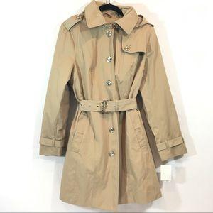 Michael Kors NWT Khaki Trench Coat with Belt Large