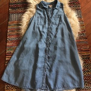 Blue Jean Button Down Dress✨