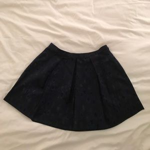 Ikat printed navy skirt