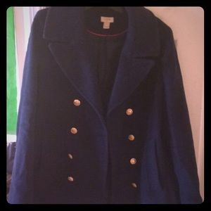 J Crew Wool blend  Double Breasted Peacoat