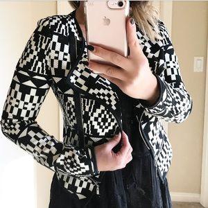 B&W Aztec print blazer