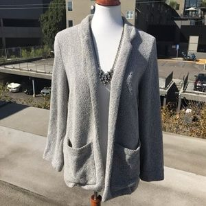TopShop Knit Blazer With Front Pockets