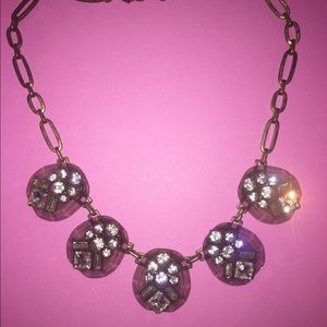 Bejeweled copper statement necklace