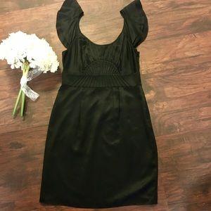 Gianni Bini Little Black Party Dress Ruffle Straps