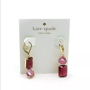 NWT Kate Spade Shine On Linear Stone Drop Earrings