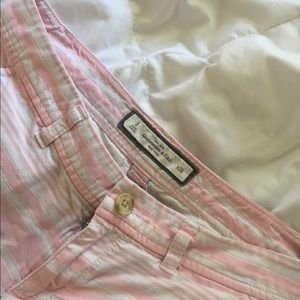 Abercrombie and Fitch pink shorts