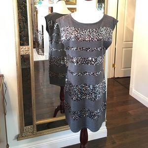 Trina Turk merino wool sequence dress