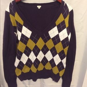 J. Crew Argyle Sweater