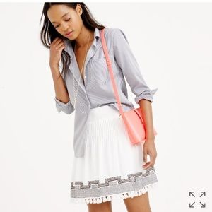J. Crew Embroidered Tassel Gauze Skirt Size Large