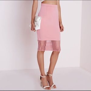 Missguided grid cut out pencil skirt