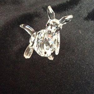 Swarovski crystal kangaroo with baby
