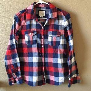 Forever 21 Plaid Button Down Shirt