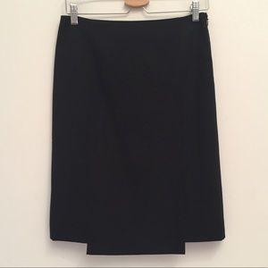THEORY Pencil Skirt with Geometric Cut Hem EUC 2