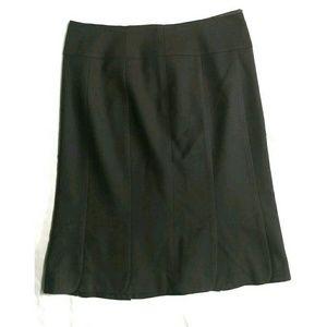Ann Taylor black scalloped work skirt wool cashmer